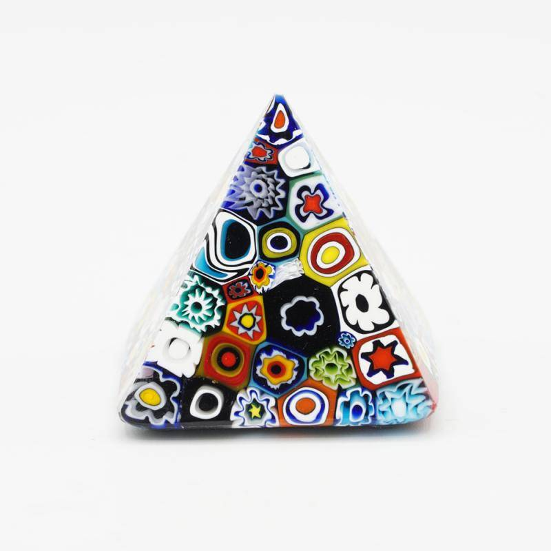 """Floral"" murrine glass pyramid"