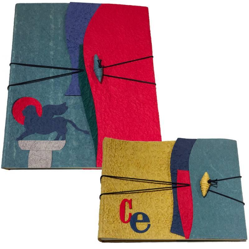 Coppia Album in carta di cotone
